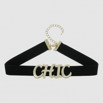 Choker Necklace with Initials
