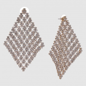 Studded Earrings with Push Back Closure