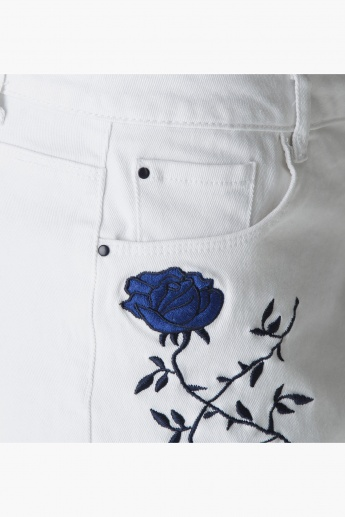 Lee Cooper Embroidered Shorts