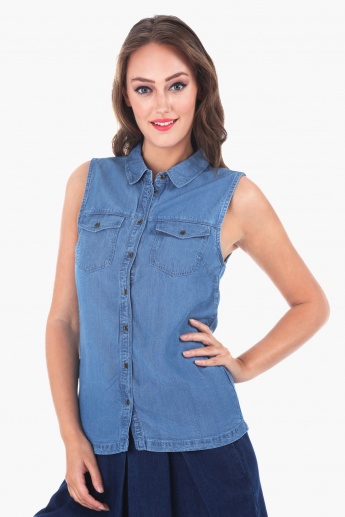 Lee Cooper Sleeveless Shirt