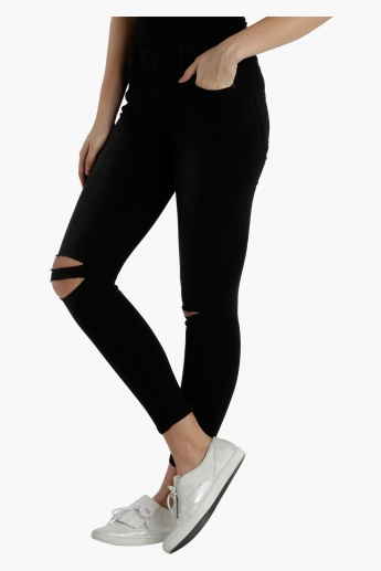 Lee Cooper Skinny Ripped Jeggings