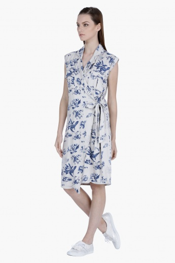 Lee Cooper Floral Print Wrap Dress