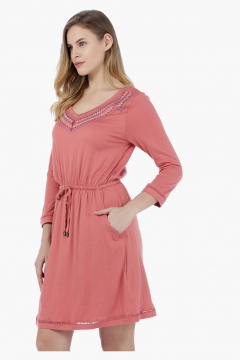 Lee Cooper Embroidered Jersey Dress