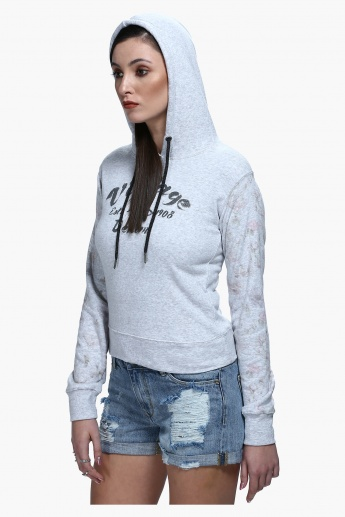 Lee Cooper Printed Sweatshirt with Hood