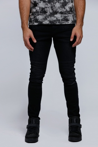 Lee Cooper Full-Length Jeans with Button Closure