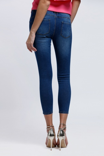 Lee Cooper Push Up Jeggings with Elasticised Waistband