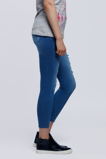 Lee Cooper Distressed Full Length Jeans