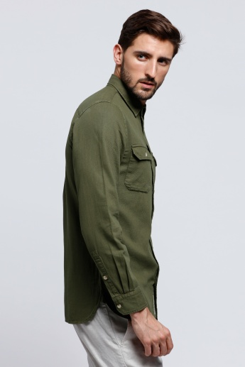 Lee Cooper Long Sleeves Shirt with Two Flap Pockets