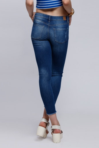 Eco Friendly Lee Cooper Ripped Jeans with Button Closure