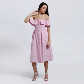 Lee Cooper Off Shoulder Shirt Dress
