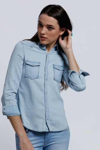 Lee Cooper Long Sleeves Shirt with Pocket Detail