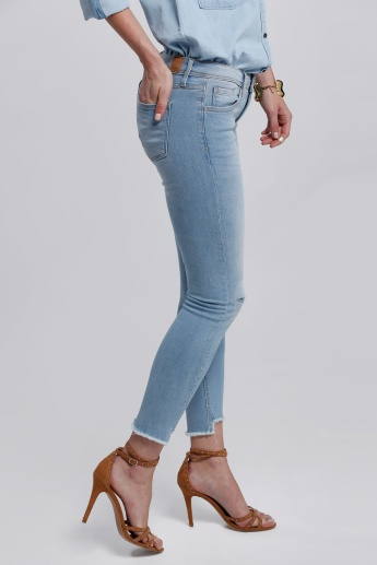 Lee Cooper Faded Ankle Length Jeans