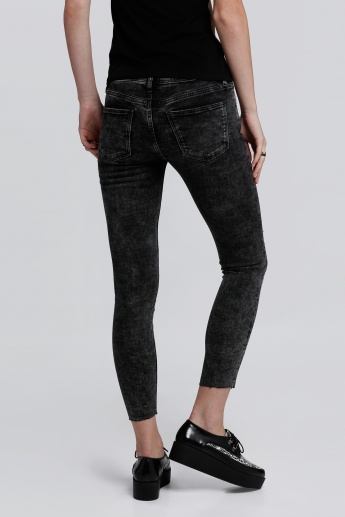 Lee Cooper Acid Wash Ankle Length Jeans