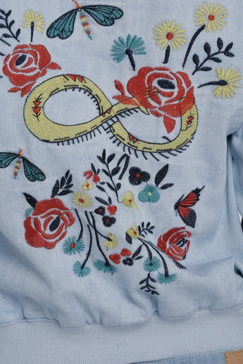 Lee Cooper Embroidered Jacket with Long Sleeves