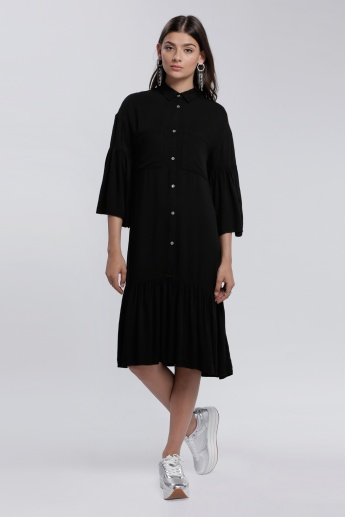 Lee Cooper Shirt Dress with 3/4 Sleeves