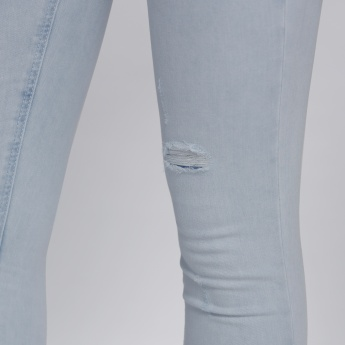 Lee Cooper Ripped Jeans with Button Closure