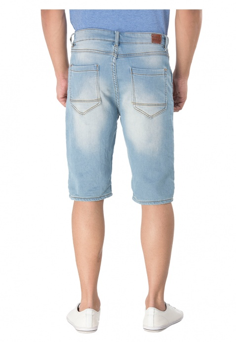 Stonewashed Knee Length Shorts