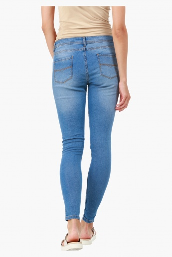 Plain Stretch Denims in Super Skinny Fit