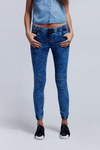 Eco Friendly Denim Pants with Elasticised Waistband