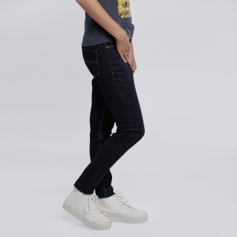 Full Length Jeans with Stitch Detailing