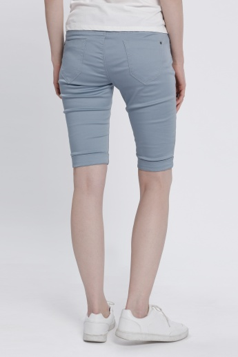 Shorts with Button Closure and Zip Fly