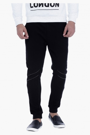 Jog Pants with Zip Detailing