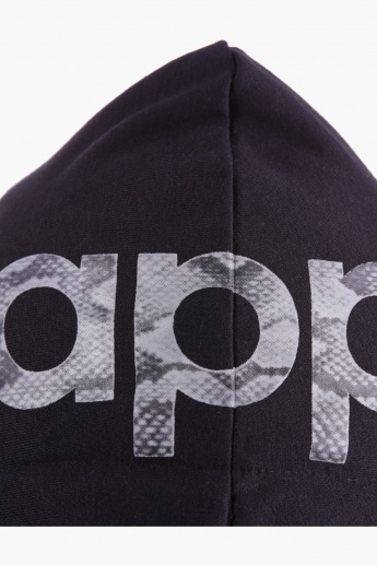 Kappa Cropped Jacket with Print and Hood in Regular Fit