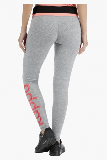 Kappa Technical Leggings with Seamless Pattern in Regular Fit