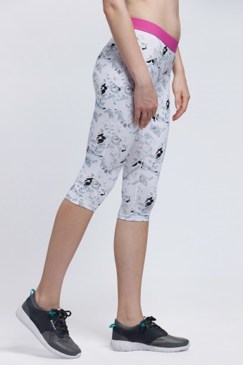 Kappa Printed 3/4 Length Leggings with Elasticised Waistband