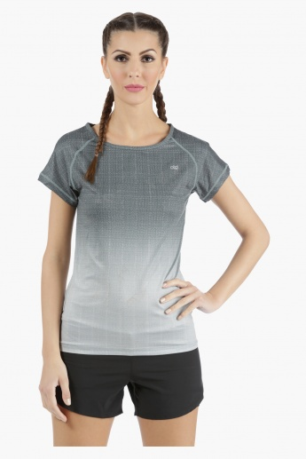 Printed Technical T-Shirt with Raglan Sleeves in Regular Fit