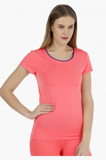 Short-sleeved T-shirt with Mesh Inserts