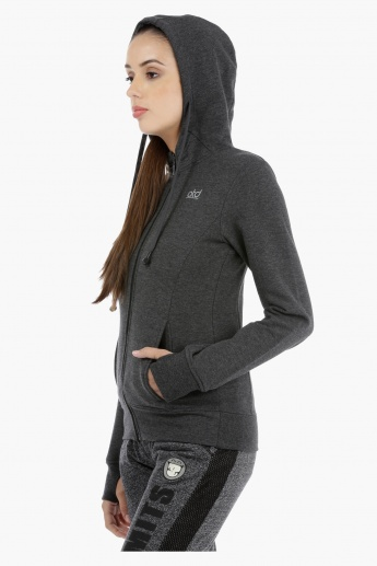 Hooded Long Sleeves Jacket with Earbuds