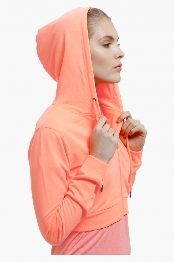 Front Open Sweatshirt with Hood and Long Sleeves