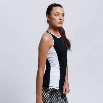 Regenerated Sleeveless Vest with Round Neck