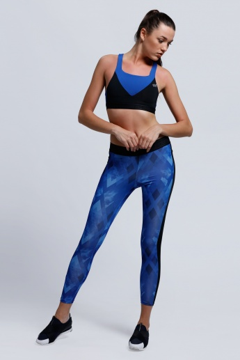 Regenerated Printed Leggings with Elasticised Waistband