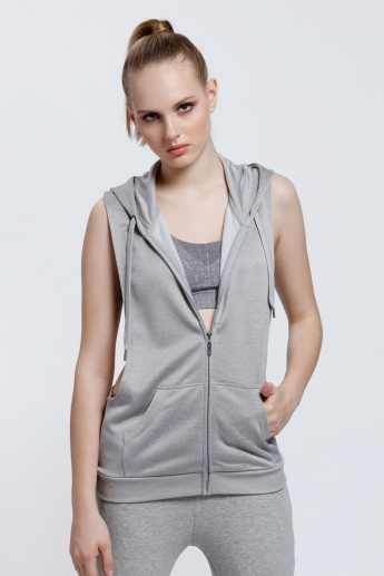Drop Armhole Jacket with Hood and Racerback