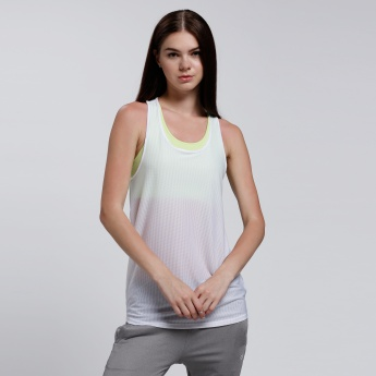 Sleeveless Ribbed Vest with Round Neck and Racerback