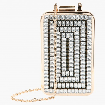 Embellished Rectangular Clutch