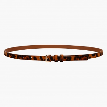 Skinny Animal Print Belt