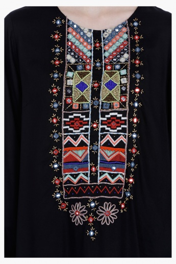 Embroidered Long Sleeves Tunic
