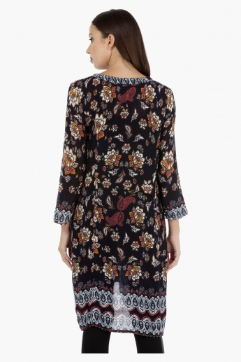 Printed Tunic with Scoop neck