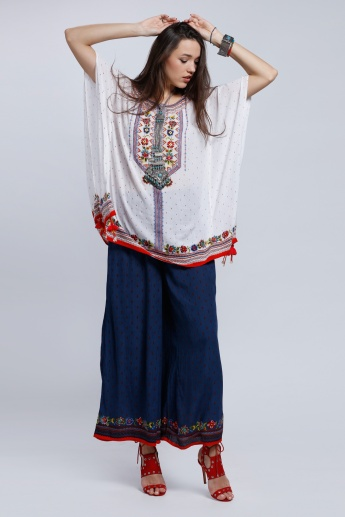 Printed Palazzo Pants with Elasticised Waistband