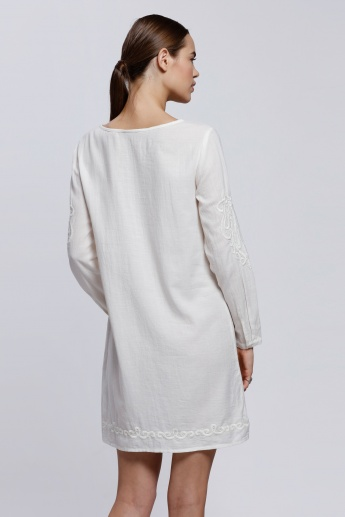 Embroidered Tunic with Long Sleeves