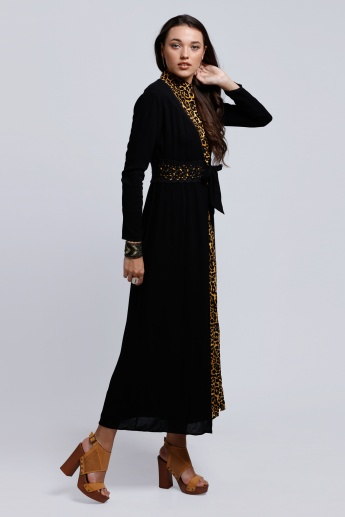 Maxi Shrug with Lace Detail and Long Sleeves