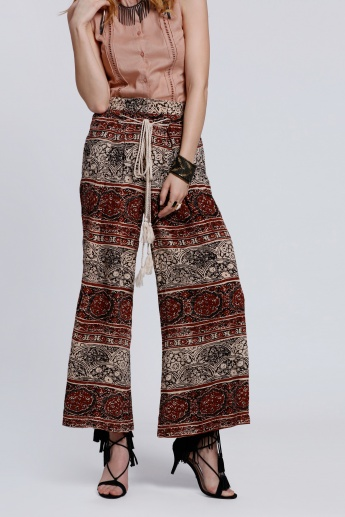 Printed Palazzo Pants with Drawstring