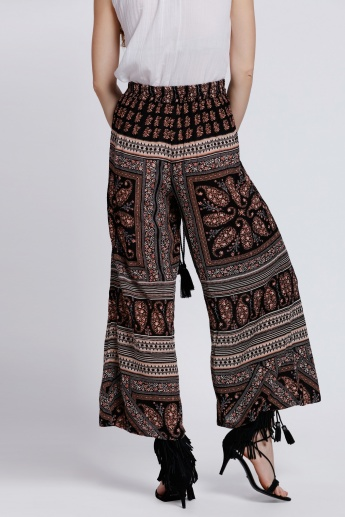 Printed Palazzo with Elasticised Waistband