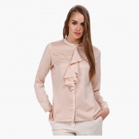 Cascade Shirt with Mandarin Collar and Long Sleeves
