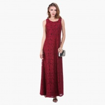 Sleeveless Maxi Lace Dress