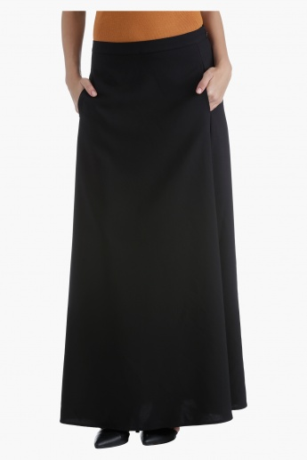 Tailored Maxi Skirt with Flare in Regular Fit