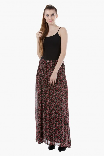 Floral Print Maxi Skirt in Regular Fit